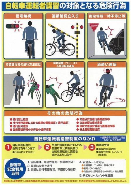 自転車の 道路交通法 自転車 歩行者信号 : 道路交通法改正(平成27年6月1 ...